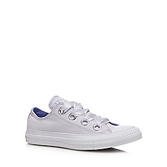 Converse - Rose Canvas 'Big Eyelets' Trainers
