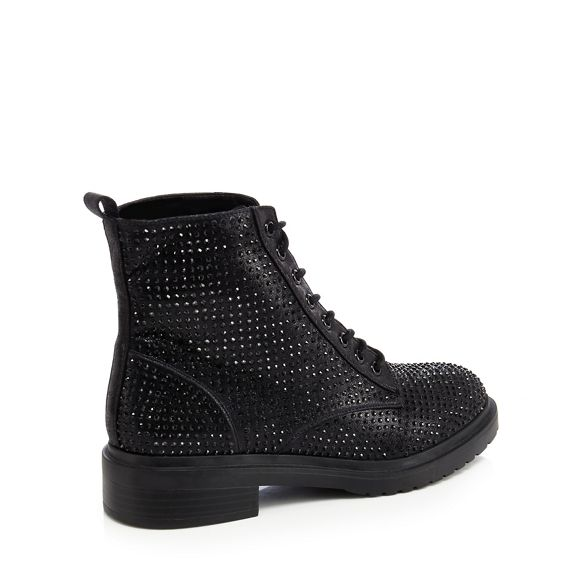 boots diamante Black biker 'Barkle' Faith w4x17X8nn