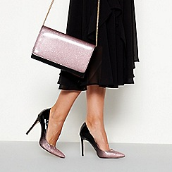 Faith - Pink glitter ombre 'Chloe' high stiletto heel pointed shoes