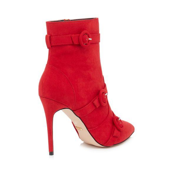 Red suedette stiletto 'Biletto' boots heel Faith zpfwqw