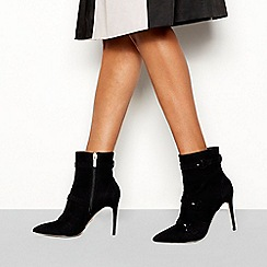 Faith - Black suedette 'Biletto' stiletto heel boots