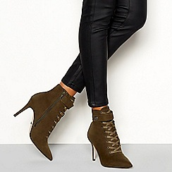 Faith - Green 'Bace' stiletto heel boots