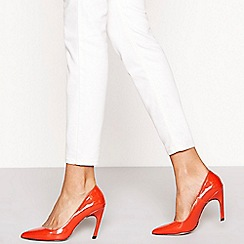 Faith - Red patent 'Curve' high stiletto heel pointed shoes