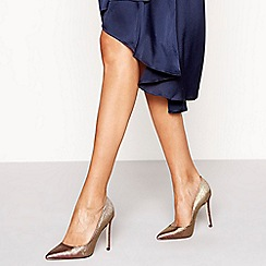 Faith - Pink glitter 'Chloe Mermaid' high stiletto heel pointed shoes