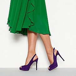 Faith - Purple suedette 'Looker' high stiletto heel sling back shoes