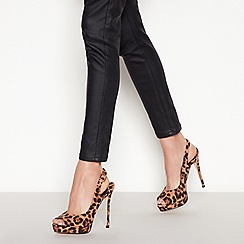 Faith - Multi Leopard Print 'Looker' Peep Toe Stiletto Heel Slingbacks