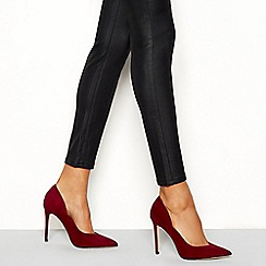 Faith - Red 'Coop' stiletto heel court shoe