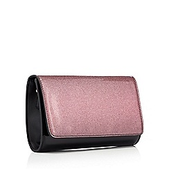 Faith - Pink patent glitter 'Pombre' shoulder bag