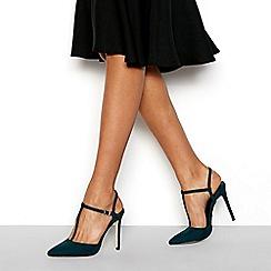 Faith - Green 'Chi' T-bar stiletto heels sandals