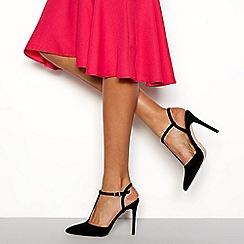 Faith - Black 'Chi' T-bar stiletto heels sandals