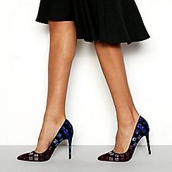 Faith - Multicoloured 'Chloe' gem stiletto heel pointed toe shoes