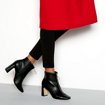 46927be1ae2 Faith Black faux leather  Bare  high block heel ankle boots