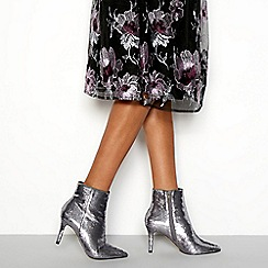 Faith - Metallic 'Beckham' sequin pointed stiletto heel boots