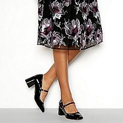 Faith - Black Mary Jane mid block heels shoes