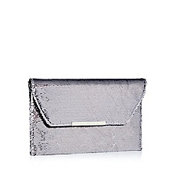 Faith - Metallic sequin 'Party' envelope clutch bag