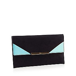 Faith - Black Suedette 'Patricia' Clutch Bag