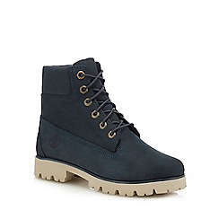 Timberland - Blue leather 'Heritage Lite' lace-up boots
