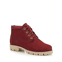 Timberland - Red leather 'Heritage Lite' boots