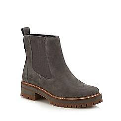 Timberland - Grey nubuck 'Courmayeur Valley' Chelsea boots