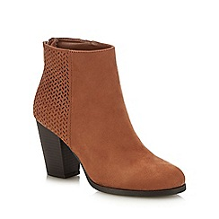 Call It Spring - Tan Suedette 'Droedda' Block Heel Ankle Boots
