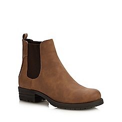 Call It Spring - Light Brown 'Eowigollan' Block Heel Chelsea Boots