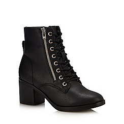 Call It Spring - Black 'Heandra' Block Heel Ankle Boots