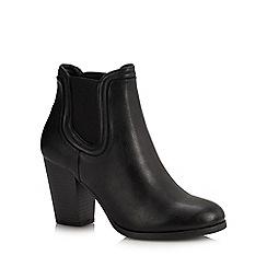 Call It Spring - Black 'Wicorerith' Block Heel Chelsea Boots