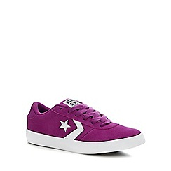 Converse - Purple Suede 'Point Star' Trainers