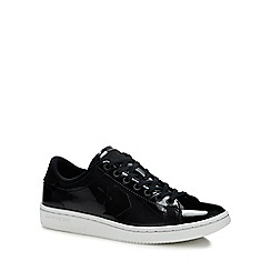 Converse - Black Patent Leather 'All Court' Trainers