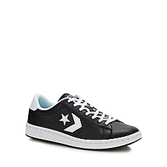 Converse - Black Leather 'All Court' Trainers