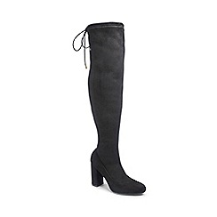6879e963fa6 Simply Be - Black  Sam  super curvy block heel wide fit knee high boots