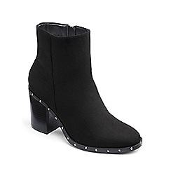 Simply Be - Black Wide Fit 'Holly' Stud Ankle Boots