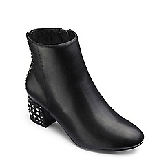 Simply Be - Black 'Monet' block heel wide fit stud ankle boots