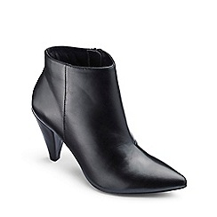 Simply Be - Black 'Lillibet' cone heel wide fit ankle boots