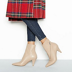 Faith - Natural leather 'Bip' block heel boots