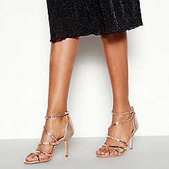 Faith - Rose Embellished 'Linea' Stiletto Heeled Sandals
