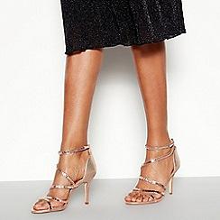 Faith - Rose Embellished 'Linea' Stiletto Heeled Sandals