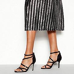 Faith - Black Embellished 'Linea' Stiletto Heel Sandals