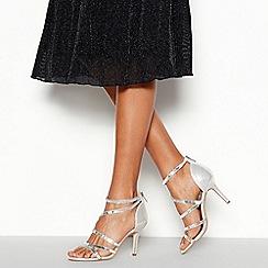 Faith - Silver Embellished 'Linea' Stiletto Heel Sandals