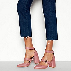 Faith - Pink Matte 'Chellie' Mid Block Heel