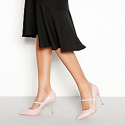 Faith - Pink patent stiletto heel pointed toe shoes