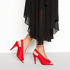 Faith - Red 'Civine' sling back open toe stiletto heel sandals