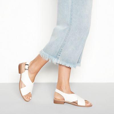 Faith   White 'josh' Sandals by Faith