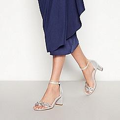 217dc86be0ae Faith - Silver Diamante  Dommy  Mid Block Heel Sandals