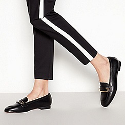 Faith - Black Faux Leather 'Astarry' Loafers