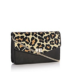 Faith - Multicoloured Leopard Print Faux Fur 'Pamela' Cross Body Bag