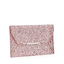 Faith - Pink Glitter 'Party' Envelope Clutch Bag