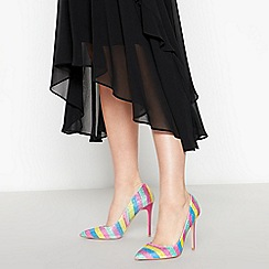 Faith - Multicoloured Gemstone 'Chloe' Stiletto Heel Court Shoes
