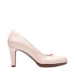 Clarks - Pale Pink Patent 'Adriel Viola' Stiletto Heel Court Shoes
