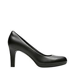 Clarks - Black Leather 'Adriel Viola' Stiletto Heel Court Shoes